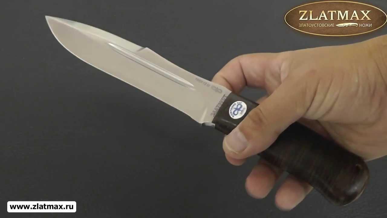 Видео Нож Скорпион (100Х13М, Наборная кожа, Текстолит)
