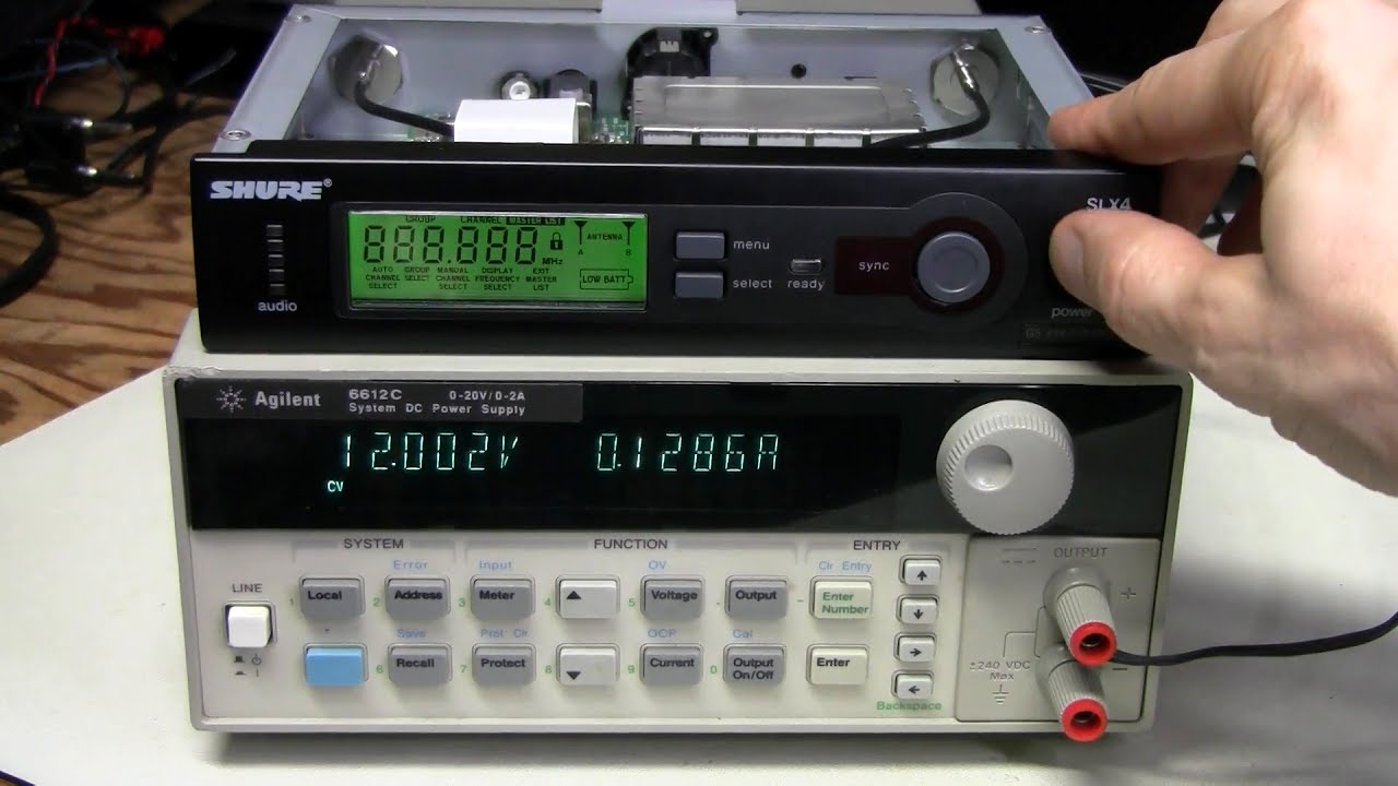 56 - Shure SLX4 wireless microphone receiver repair - YouTube