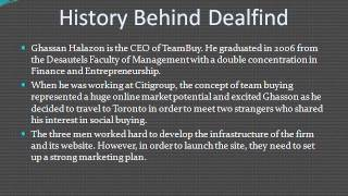 Finance and Entrepreneurship by CEO of Dealfind