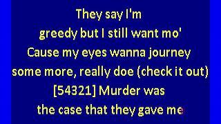 Snoop Dogg - Murder Was the Case (karaoke)