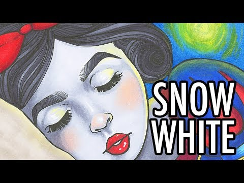 Snowdrop/Snow White Copic Marker Drawing - YouTube Artist's Collective - Grimm's Fairytales Theme!