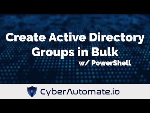 Create Active Directory Groups in Bulk from a CSV w/ PowerShell