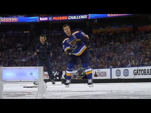 Alex Pietrangelo wins the passing challenge at 2018 NHL Skills Competition