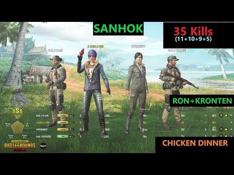 [Hindi] PUBG Mobile   RON&KRONTEN In Sanhok Map '35 Kills' In squad