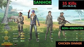 [Hindi] PUBG Mobile | RON&KRONTEN In Sanhok Map