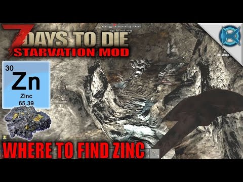 7 Days to Die Mod | Where to Find Zinc | SP Let's Play Starvation Mod Gameplay | S01E36