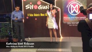 Miss World Malaysia 2013 Finalists Revealed And Interviews