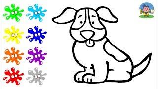 Как нарисовать СОБАКУ | Мультик Раскраска для детей СОБАКА | How to draw a DOG