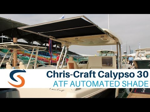 Chris-Craft Calypso 30 Demo of SureShade Automated Boat Shade