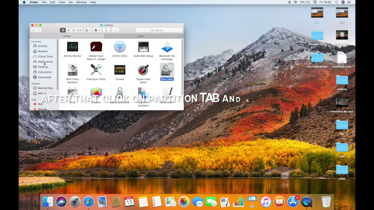 delete recovery partition mac high sierra