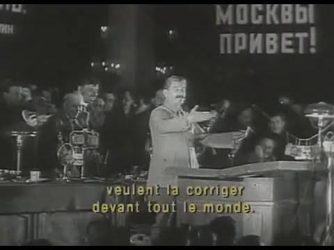 Редкая сьемка Сталина