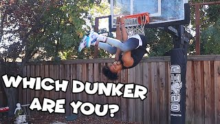 The Different Types Of Dunkers During Warmups..