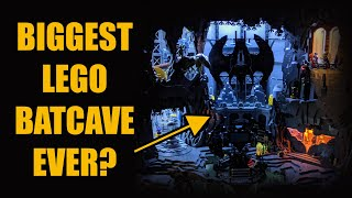 Huge LEGO Batcave and Wayne Manor
