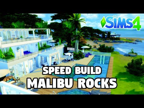 Malibu Rocks | Speed Build | The Sims 4 CC