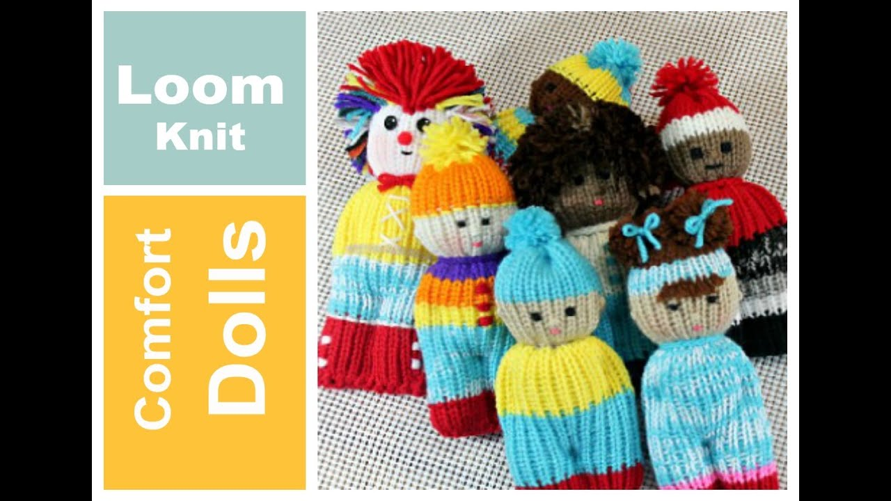 LOOM KNIT Comfort Dolls Izzy Duzuza Softies and Pocket Pals ...