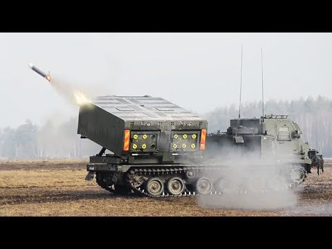UK M270 MLRS (Multiple Launch Rocket System) Shoot and Scoot Mission