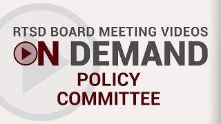 RTSD Live: School Board Committee Meeting