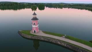 Leuchturm und Fasanenschlösschen in Moritzburg bei Dresden