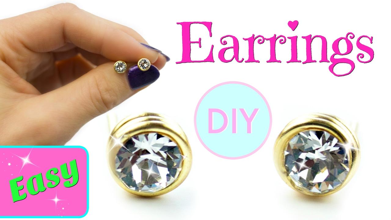 DIY Earrings | No tools! Simple DIY - YouTube