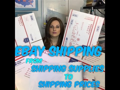 Shipping Ebay Packages Tutorial - Supplies, Cost, Process, SCAN Sheet Bulk Label Printing