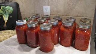 Spaghetti Sauce Canning the Easy Way