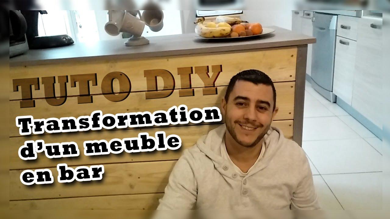Tuto diy transformer un meuble en bar youtube for Lasurer un meuble
