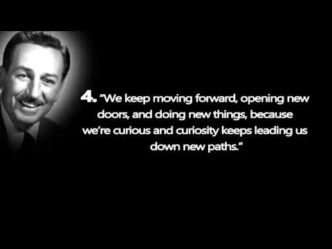 Walt Disney Quotes About Life Adorable Top 10 Inspirational Quoteswalt Disney  Youtube
