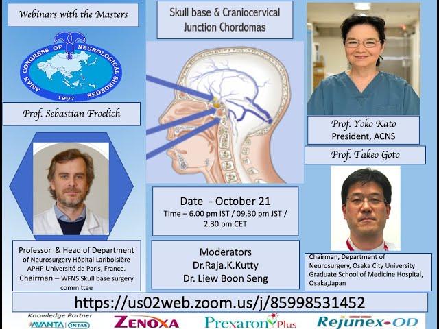 ACNS Webinar - Oct 21 - Skull base a CVJ Chordomas