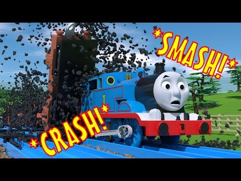 TOMICA Thomas and Friends Slow Motion Crashes: Coal Trucks SMASH into Thomas!