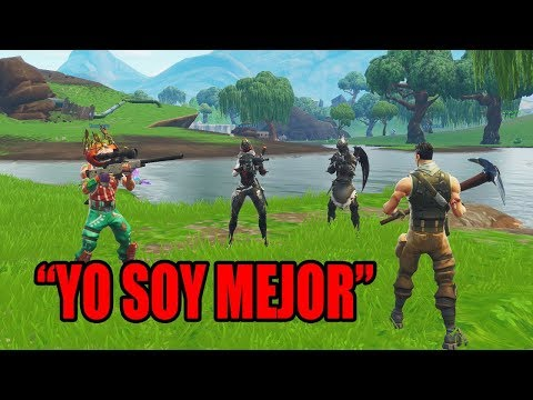 Me hice pasar por Noob en Playground, despues LOS DESTRUI - Fortnite
