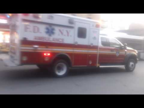 Exclusive Catch of Brand New FDNY EMS Ambulance Ford F-550 ECO Friendly Responding Modified