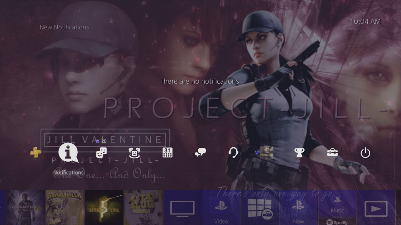 Resident Evil 5 Jill Valentine Bsaa Dynamic Theme For Playstation 4 Made By Project Jill