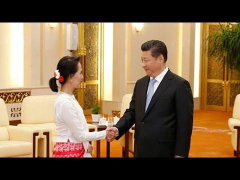 Xi Jinping meets Myanmar's Aung San Suu Kyi