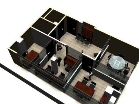 Arqedd 3d animacion oficina 3d youtube for Diseno de oficinas 3d