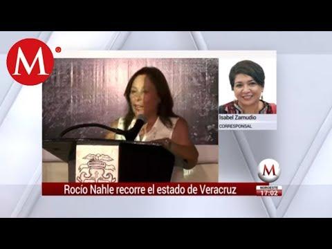 Roció Nahle recorre Veracruz