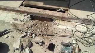 Опалубка порога гаража.(Антиворовская пластина под порогом., 2012-07-09T15:35:29.000Z)