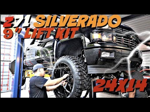 "z71 SILVERADO WITH A 9' LIFT KIT on 24x14 Xtreme Force Wheels and 37"" tires"