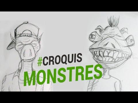 Dessiner des monstres youtube - Dessins de monstres ...