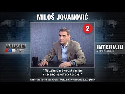 INTERVJU: Miloš Jovanović - Ne želimo u Evropsku uniju i nećemo se odreći Kosova! (07.10.2017)