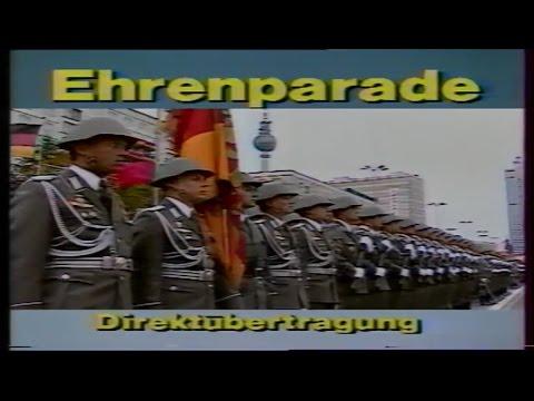 39 Jahre DDR East Germany NVA Parade 1988