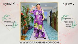 Мода для полных Платье летнее DARKWIN от DARKMEN Турция Стамбул Лалели Одежда оптом