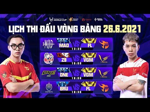 CIV vs Z9 | MAD vs FL | Z9 vs VGM | DEW vs MAD | ONE vs VGM | BRU vs FL  - Vòng bảng AWC 2021 26.06