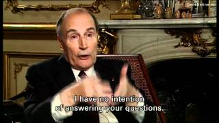 President Mitterrand gets angry