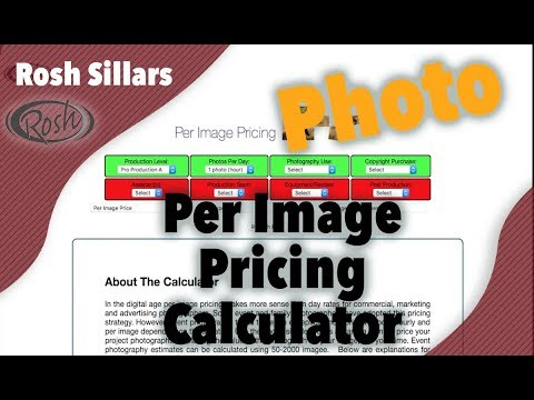 Photography Pricing Calculator - Per Image Pricing Calculator - YouTube - product pricing calculator