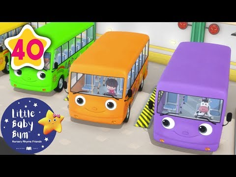 Cantec nou: Color Bus Song | +More Nursery Rhymes & Kids Songs | Little Baby Bum
