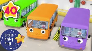 Color Bus Song | +More Nursery Rhymes & Kids Songs | Learn with Little Baby Bum