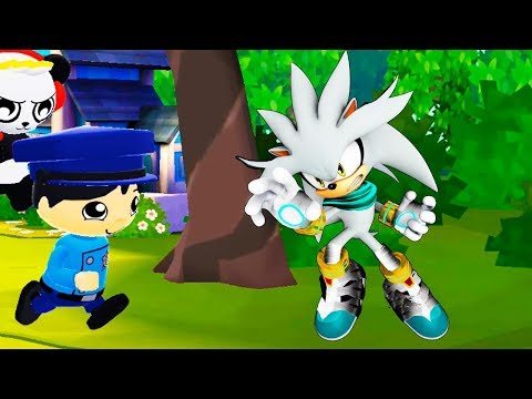 Tag with Ryan OFFICER RYAN vs SILVER Sonic Dash Gameplay FHD (Android/iOS)
