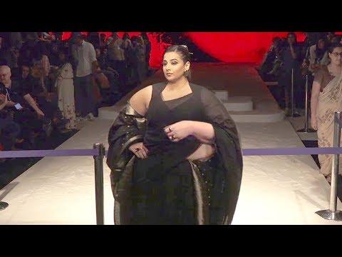 Vidya Balan's Unrecognizable SHOCKING Transformation Weight Gain Seen At Lakme Fashion Week