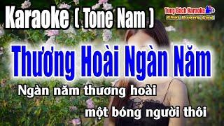 Karaoke    Thương Hoài Ngàn Năm (Tone Nam) Nhẹ Nhàng Dễ Hát [ Nhạc Sống Tùng Bách ]