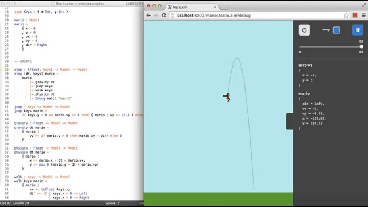 Elm Reactor Programming Games While Playing Them Youtube